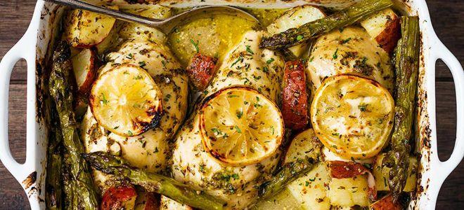 куриная грудка запеченная в духовке с картошкой