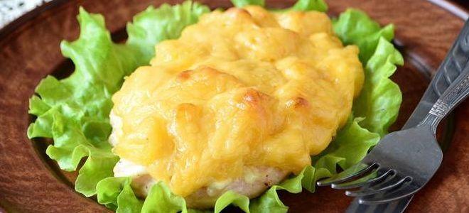 куриная грудка запеченная с ананасом