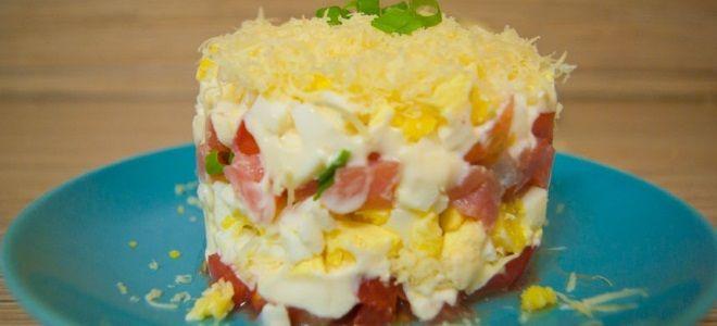 рыбный салат из кеты