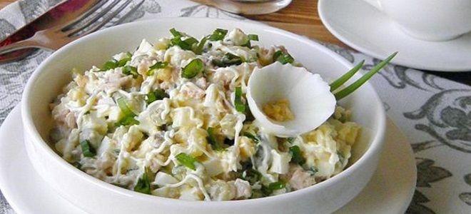 рыбный салат из трески