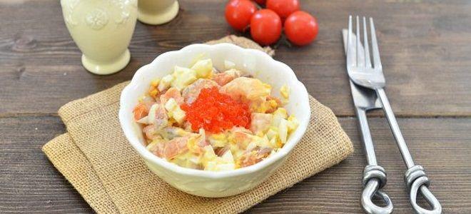 рыбный салат из семги