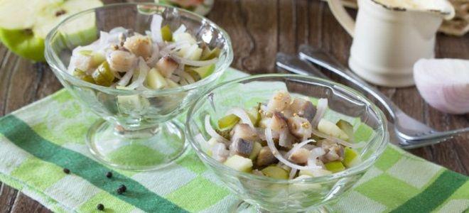рыбный салат из селедки