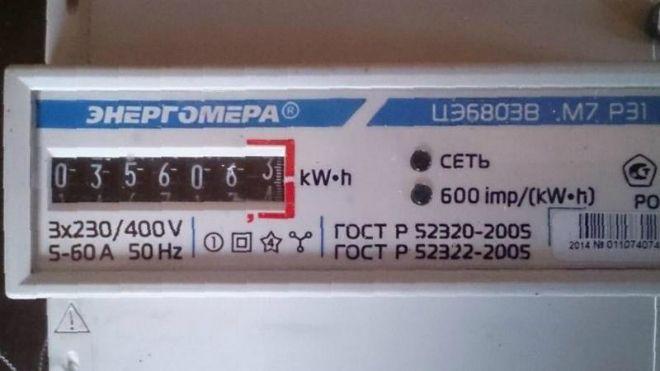 трехфазный счетчик электроэнергии