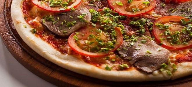 пицца с говяжьим языком
