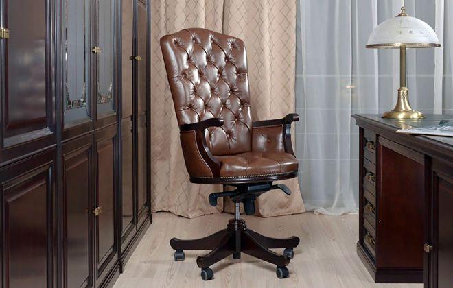 кожаная обивка кресла руководителя