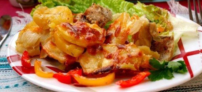 хек с картошкой в духовке