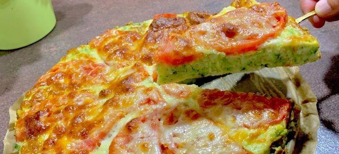 пицца с кабачками
