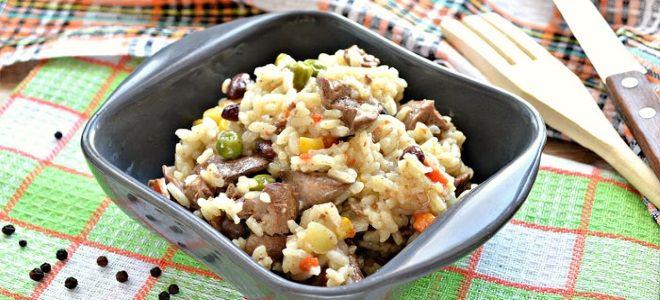 как вкусно приготовить куриную печень с рисом