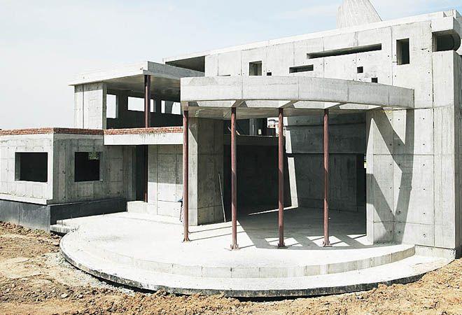 кирпично монолитный дом