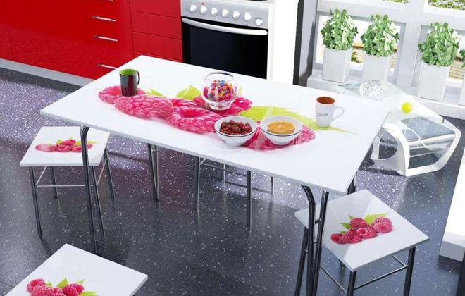 кухонный стол мдф