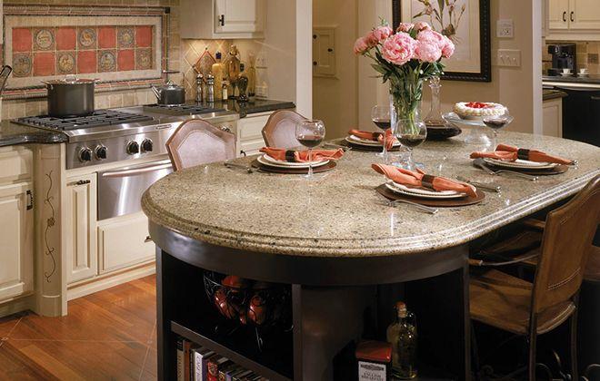 кухонный стол камень
