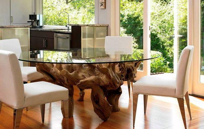 кухонный стол стекло