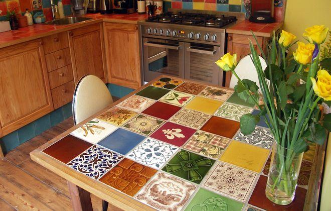 кухонный стол куремическая плитка