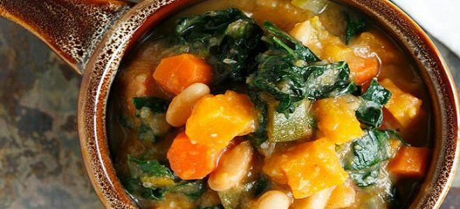 овощное рагу с кабачками и тыквой