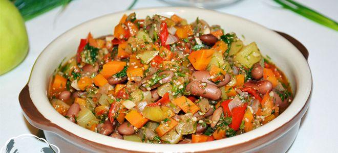 овощное рагу с кабачками и фасолью