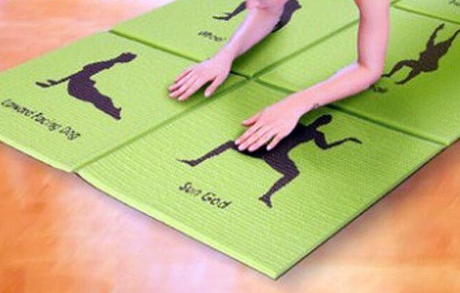складной коврик для фитнеса