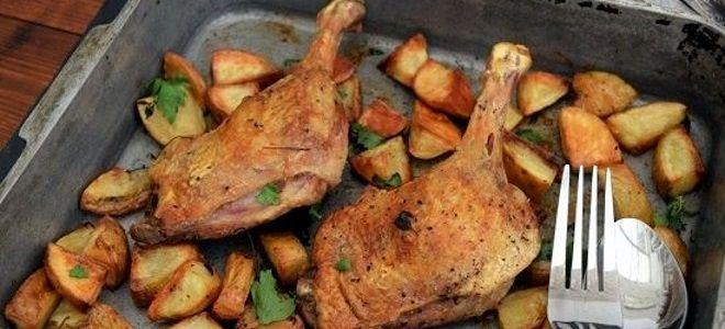 утка с картошкой в духовке