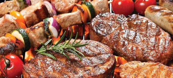 мясные блюда на мангале