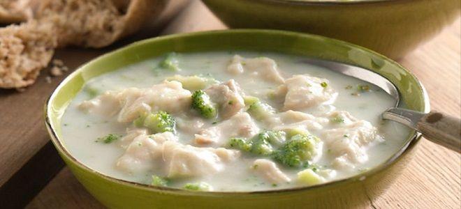сырный суп с курицей рецепт