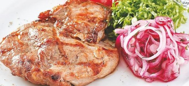 стейк из карбоната свинины