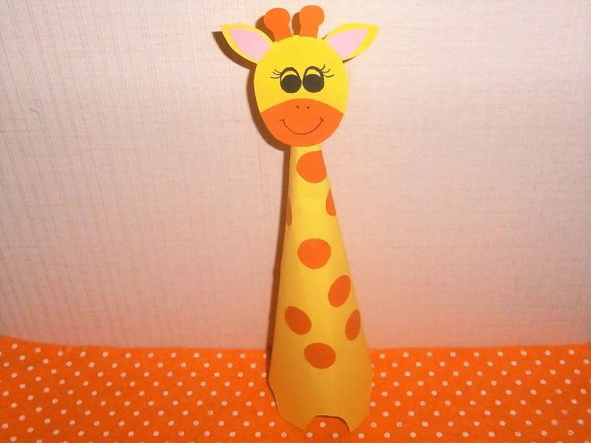 Поделки с жирафами из бумаги 65