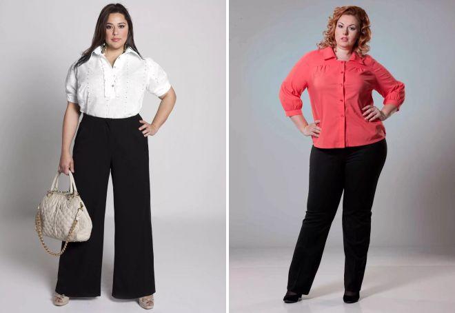 женские брюки для полных