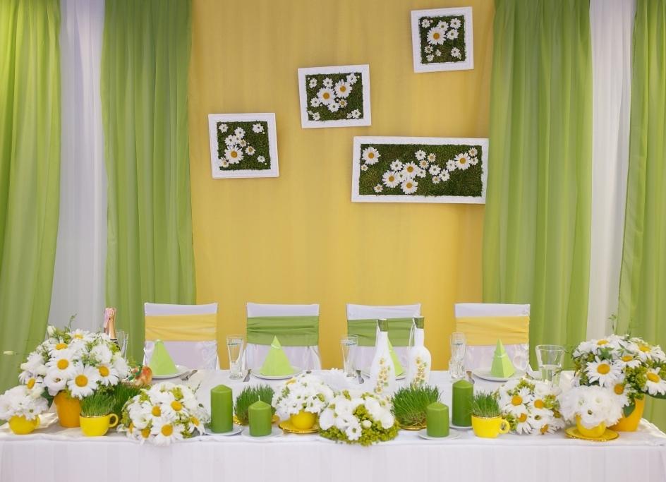Ромашковая свадьба фото оформления