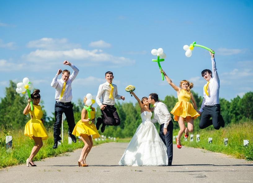 Свадьба в желтом фото