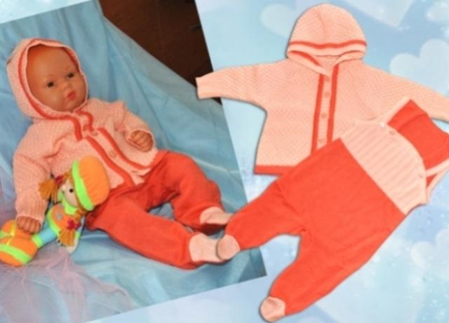 вязаная одежда для новорожденных