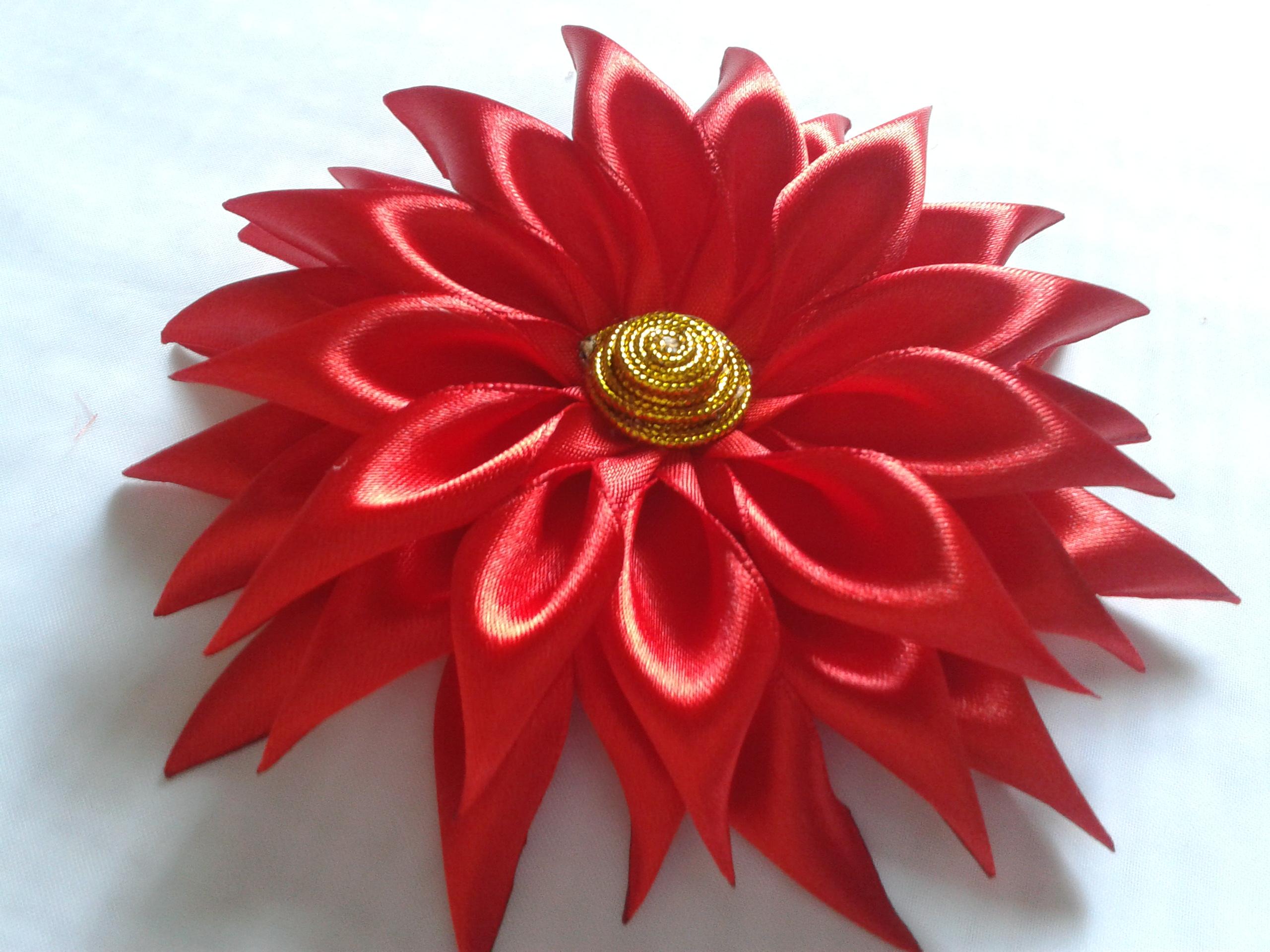 Заказать цветы из ленты мк канзаши