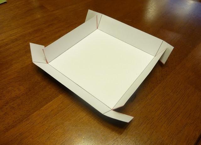 Крышка для коробки  из бумаги 174