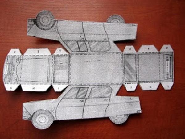 Как сделать машинку из бумаги » полезные самоделки своими руками.