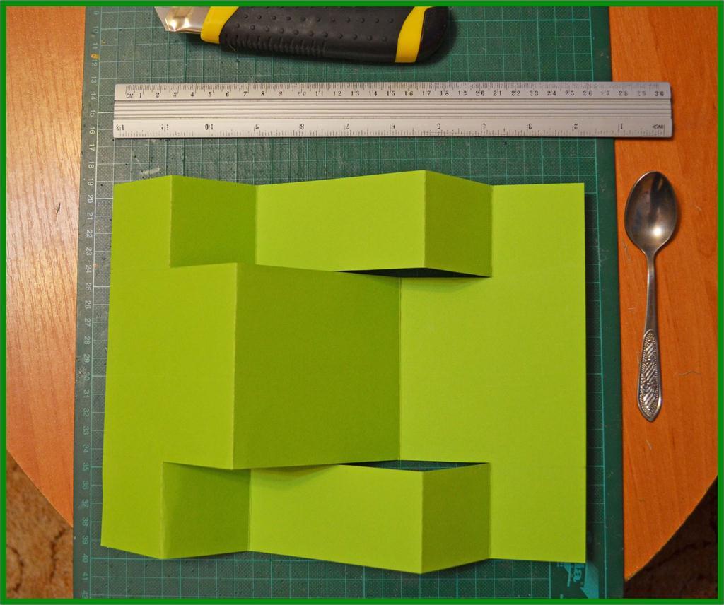 Полы, открытка складываем инструмент