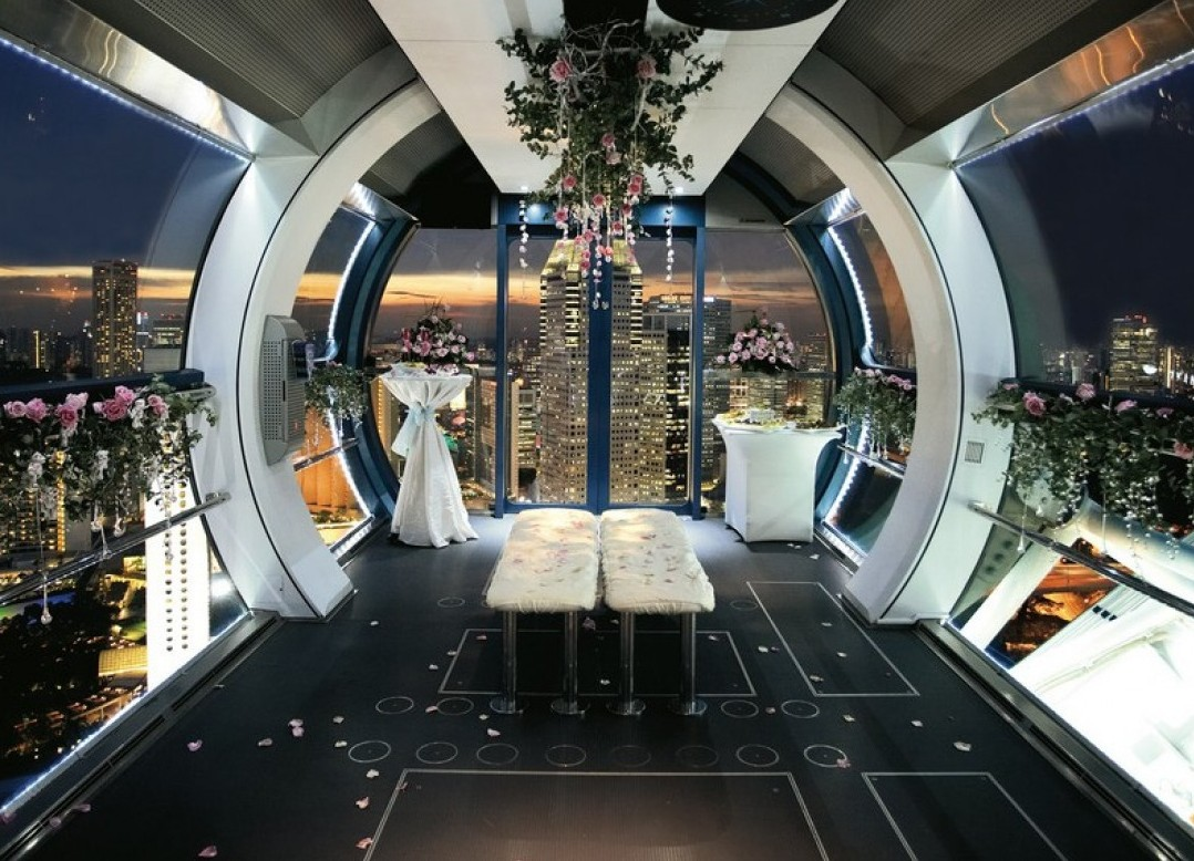 private singapore flyer sky dining capsule - HD 1078×778