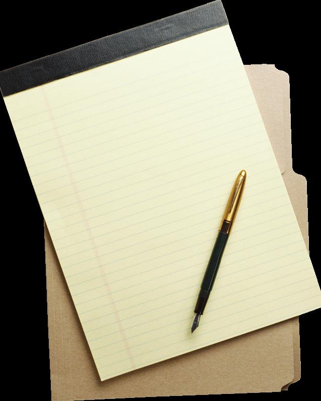 Надписью, картинка с листом бумаги и ручкой
