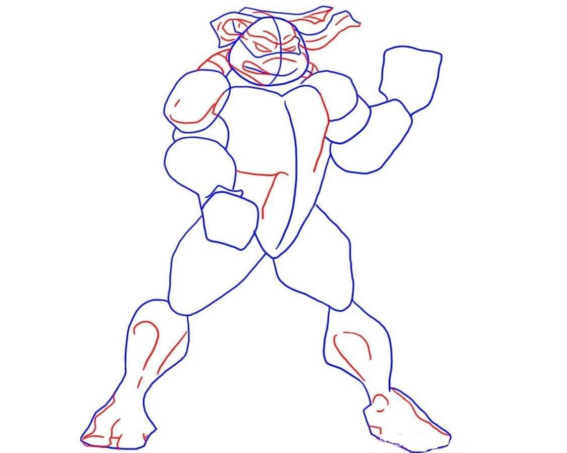 Рисунки черепашек ниндзя карандашом легкие