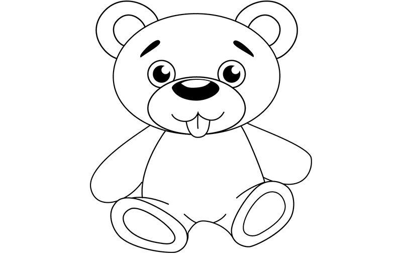 Картинки медвежат поэтапно
