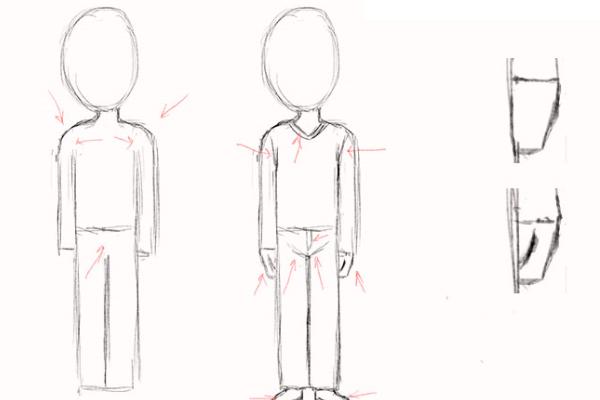Урок рисования человека поэтапно