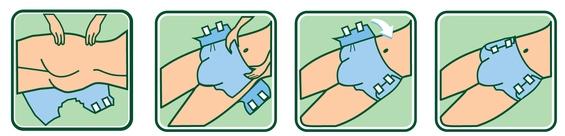 Как одеть правильно подгузник