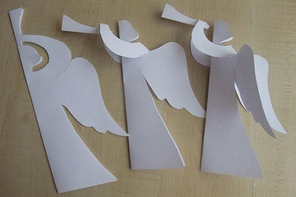 Ангелочки на елку своими руками из бумаги фото 363