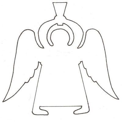 Ангелочки своими руками шаблоны на елку 72
