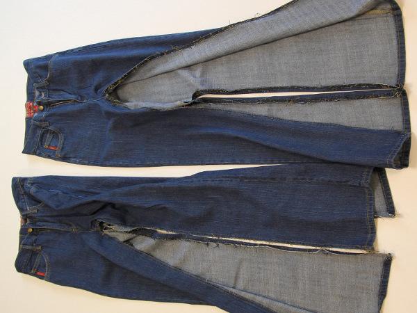 Как сшить новую юбку любого размера из старых джинсов