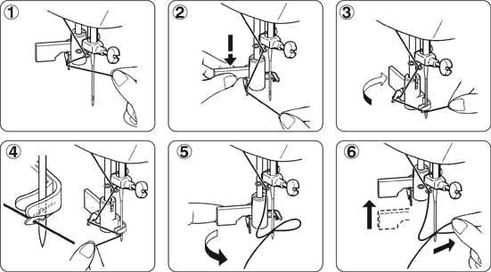 Заправка верхней нитки и регулировка ее натяжения.