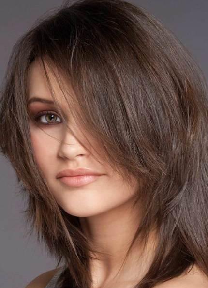 Причёски на тонкие волосы средней длины без укладки