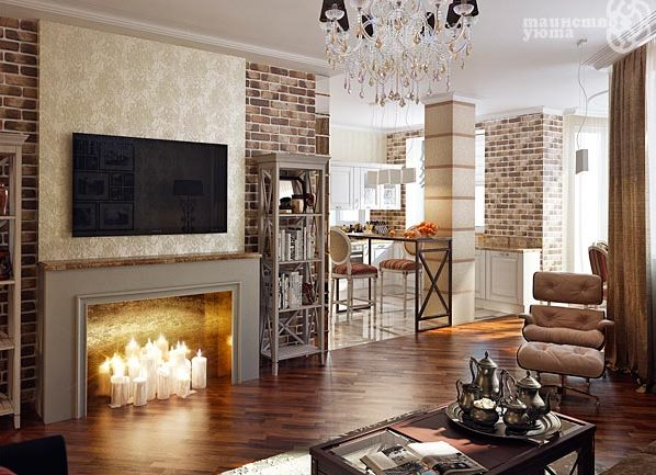 камины в квартире. фото