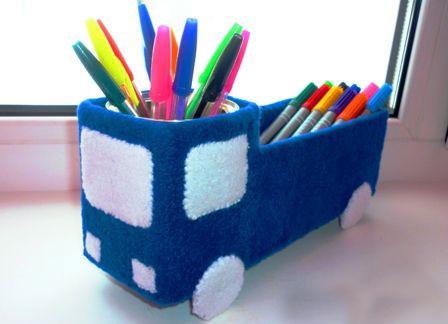 Из чего сделать карандашницу своими руками 469