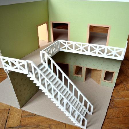 Как сделать чертеж лестницы фото 971