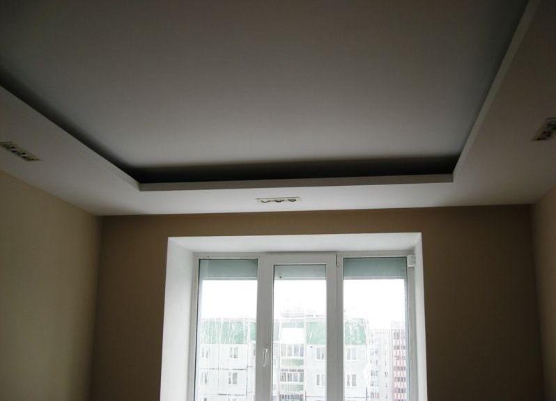 фото короба из гипсокартона на потолке