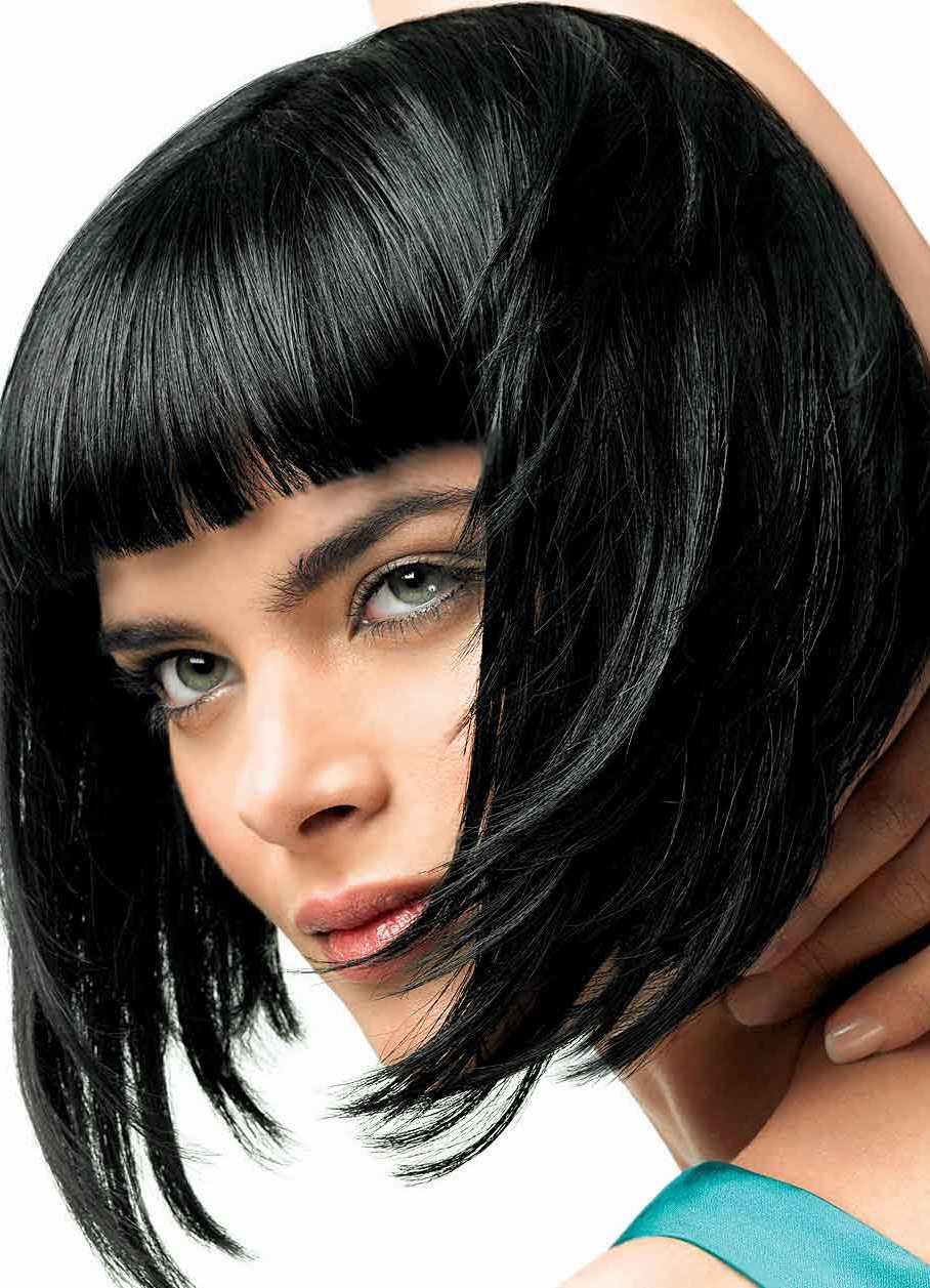 Стрижка каре на черные волосы фото