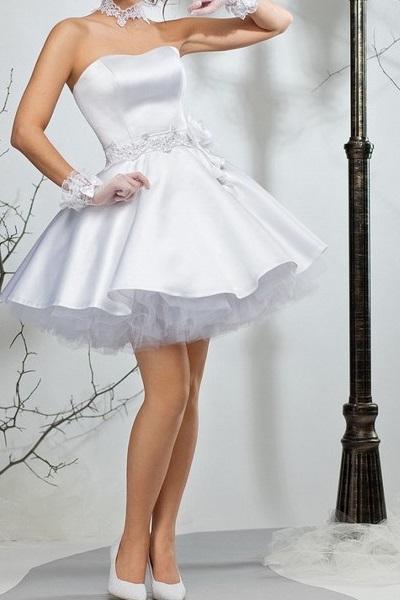 d7a0485f85c4782 Короткие пышные свадебные платья 1, Короткие пышные свадебные платья 2 ...